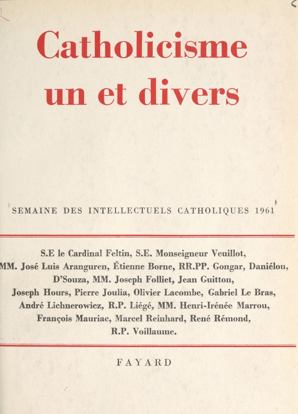 Catholicisme un et divers