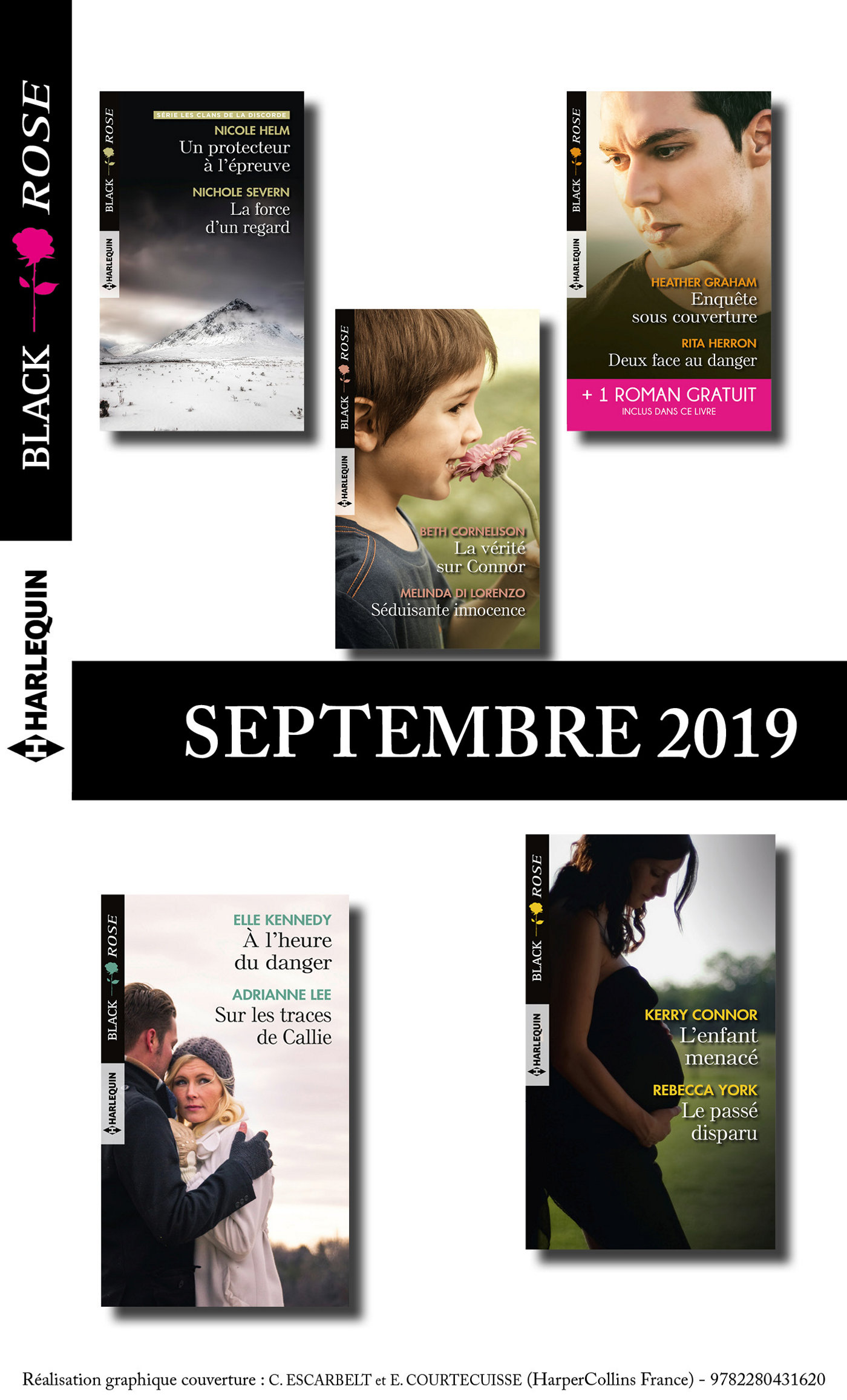 10 romans Black Rose + 1 gratuit (n°550 à 554 - Septembre 2019)