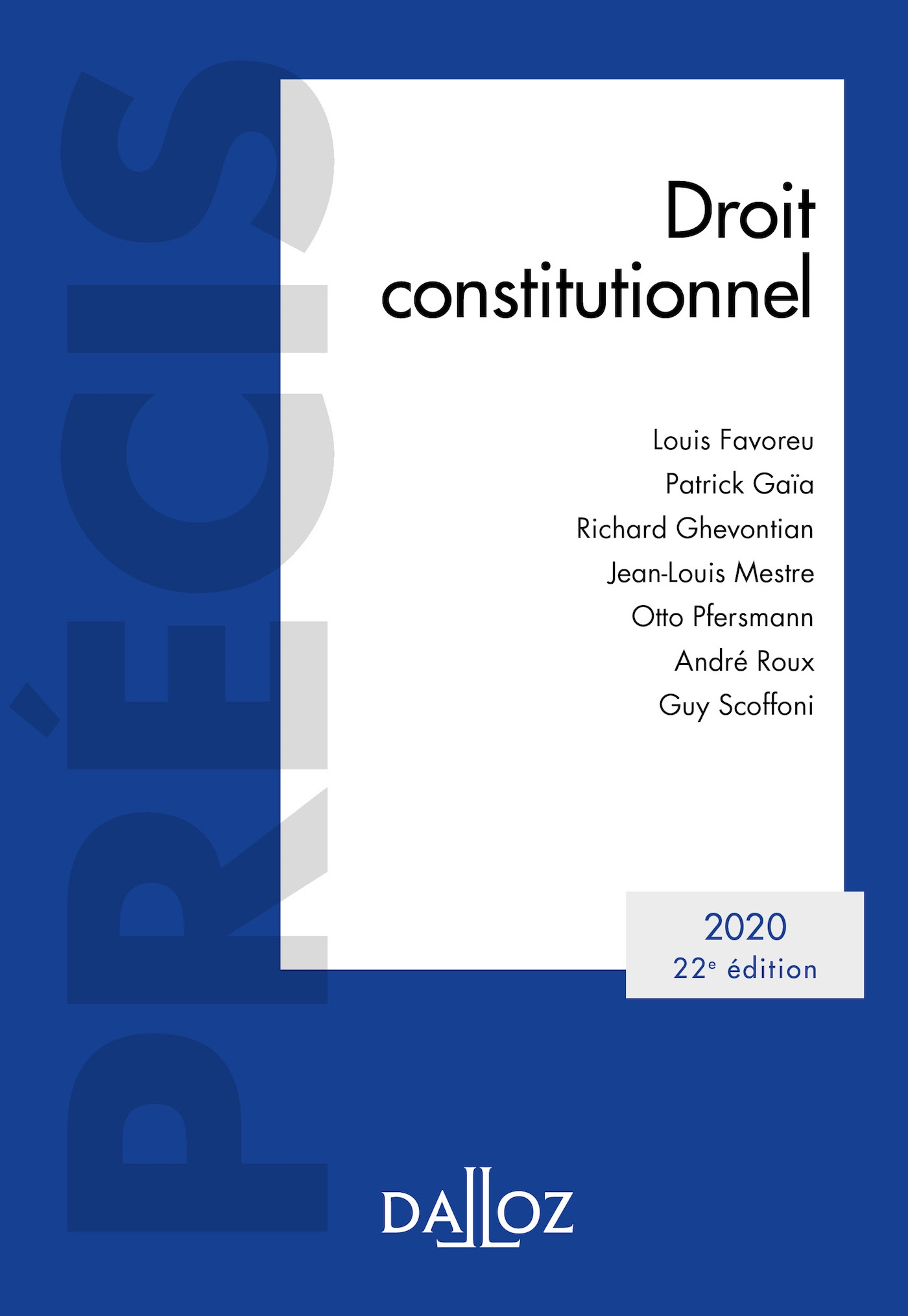 Droit constitutionnel 2020 - 22e éd.
