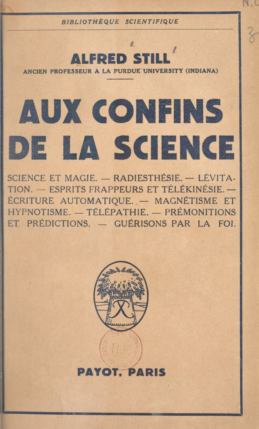 Aux confins de la science
