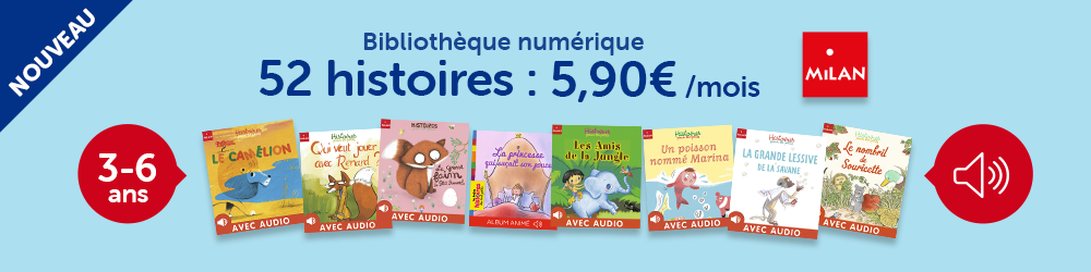 Bibliothèque numérique, 52 histoires : 5,99 € par mois