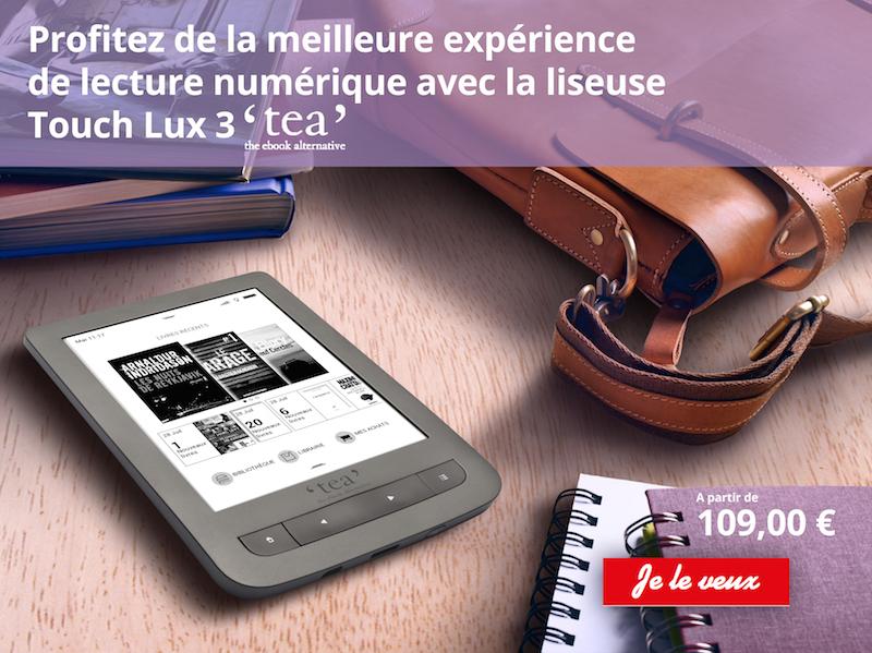 Liseuse Touch Lux 3 TEA Furet du Nord