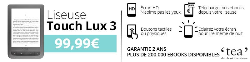 Liseuse Touch Lux 3 TEA