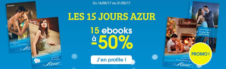 15 jours Azur : 15 ebooks à -50%